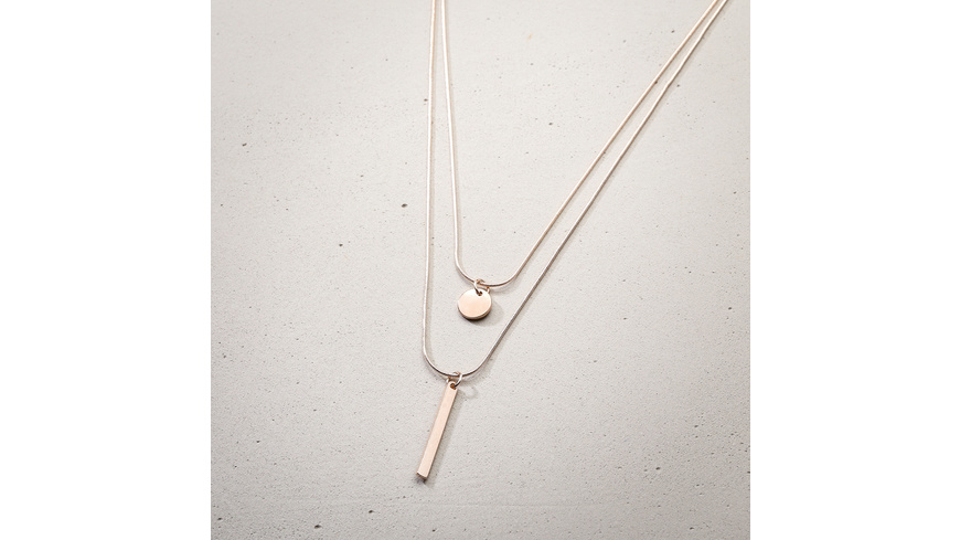 Kette - Rosegold Plate and Stick