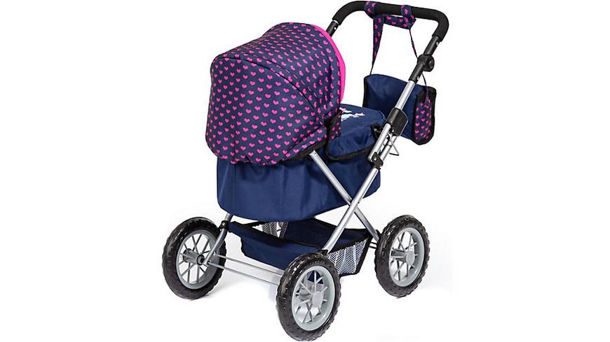 myToys-Collection Puppenwagen Trendy, Elefanten Motiv, blau/pink