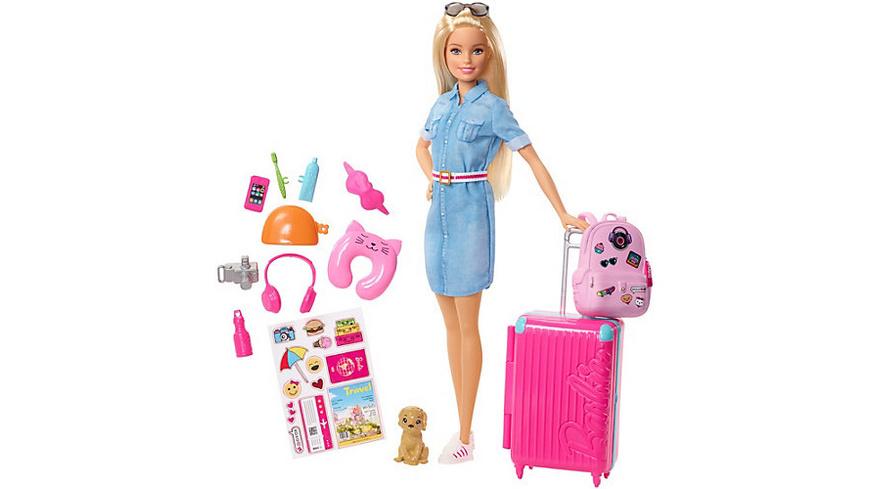 Barbie Reise Puppe (blond) und Zubehör
