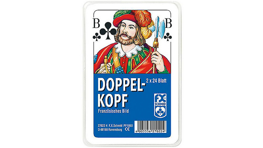 Kartenspiel- Doppelkopf, franz. Bild