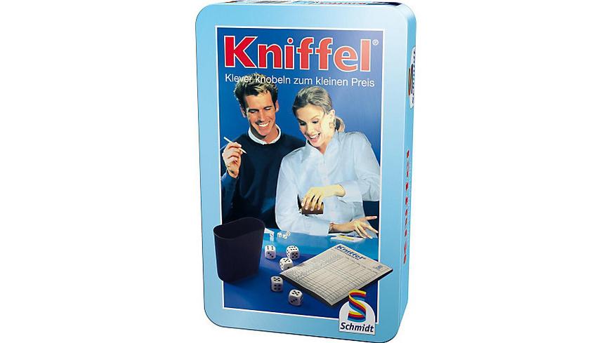 Mitbringspiel Kniffel - Metalldose