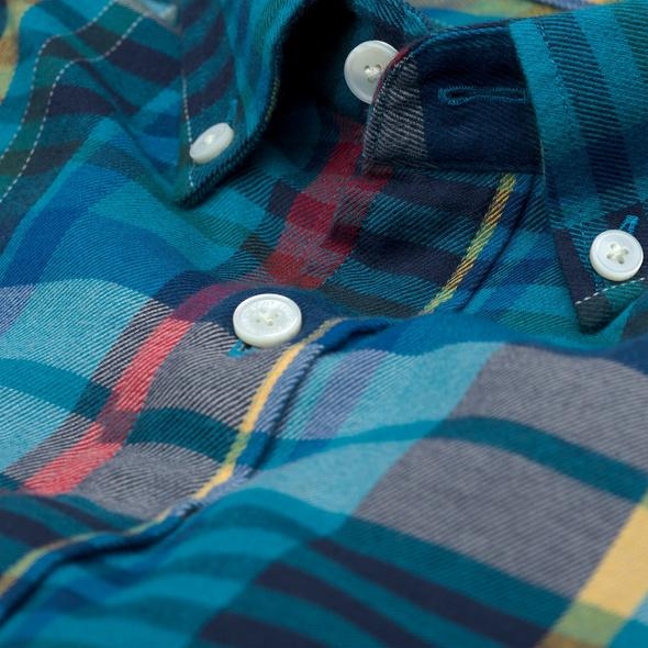 Color Kaschmir Hemd mit Karos