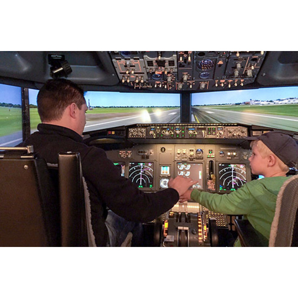 Boeing 737 Flugsimulator in Berlin für 2