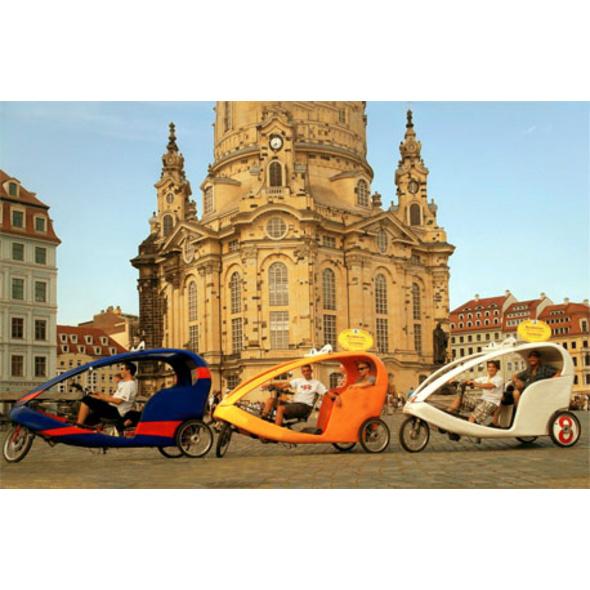 Romantische Rikscha-Tour durch Dresden für 2