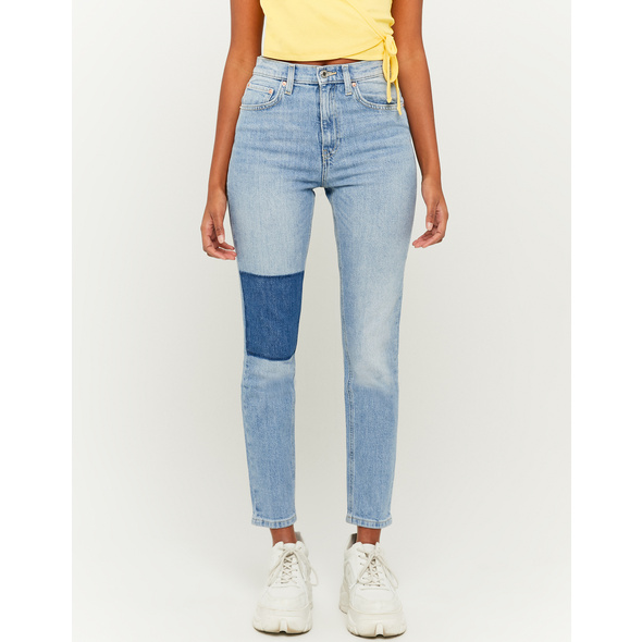 High Waist Patchwork Jeans