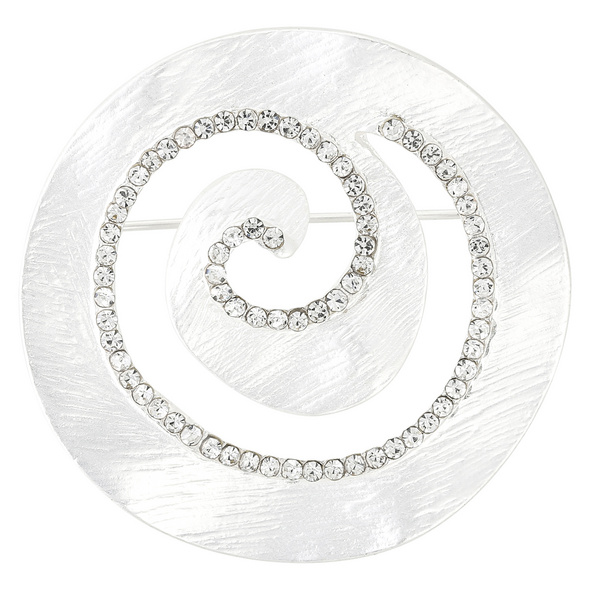 Brosche - Silver Whirl