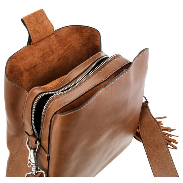 Tasche - Brown Fringes