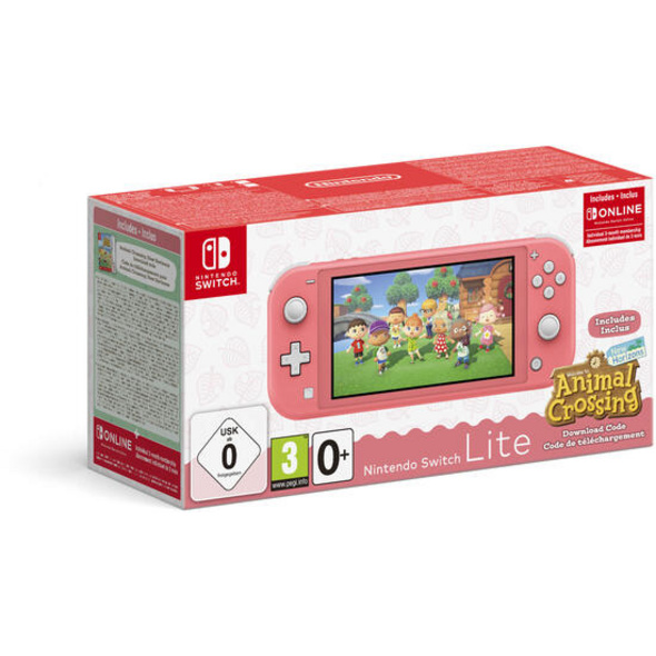 Nintendo Switch Lite Konsole Koralle & Animal Crossing
