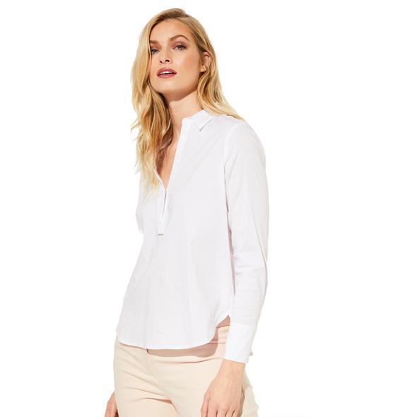 Bluse aus elastischer Qualität - Popeline-Bluse