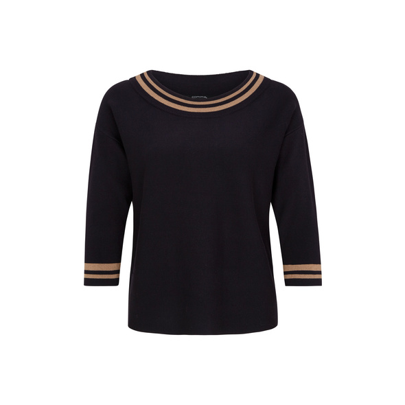 Pullover mit U-Boot-Ausschnitt - Feinstrick-Pullover