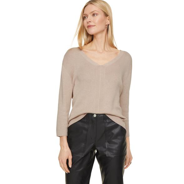 Pullover mit V-Ausschnitt - Feinstrick-Pullover