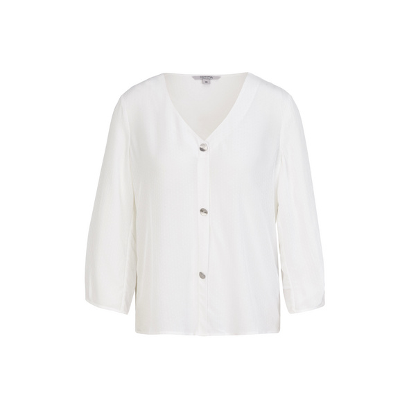 3/4-Arm-Bluse mit Zierknopfleiste - Bluse