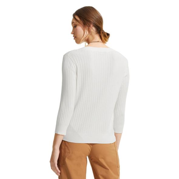 Leichte Jacke mit Rippstruktur - Strickjacke