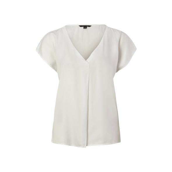 Lockere Bluse mit V-Ausschnitt - Blusenshirt