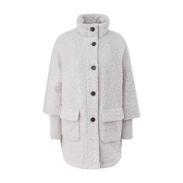 Mantel aus Teddy-Plüsch - Mantel