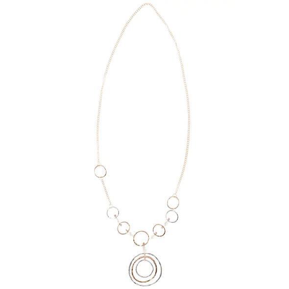Kette, Longform, Ringe, Ring-Amulett