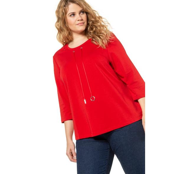 Sweatshirt, Ausschnitt-Zierband, Classic, 3/4-Arm