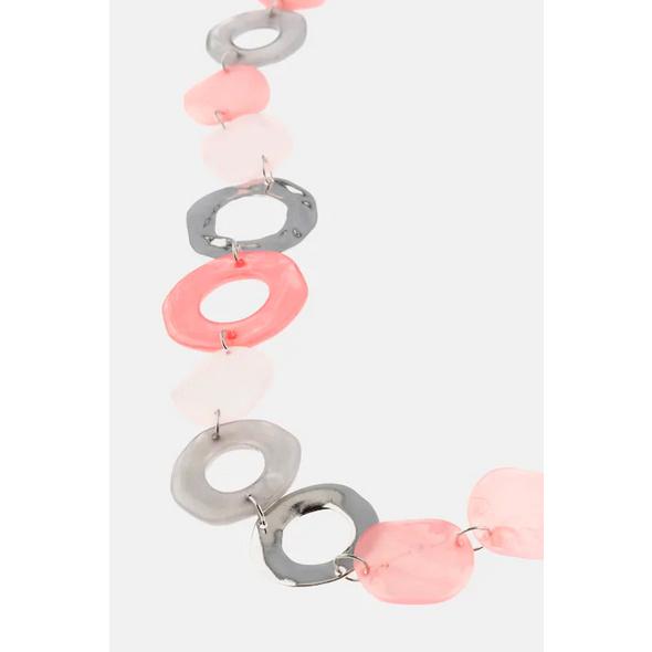 Kette, Color- und Metallic-Ringe, sehr leicht