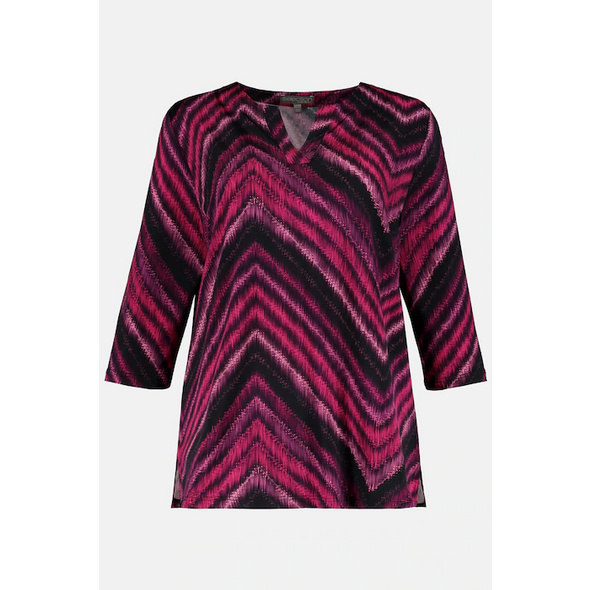 Slinkyshirt, Zacken-Design, Tunika-Ausschnitt, 3/4-Ärmel, selection
