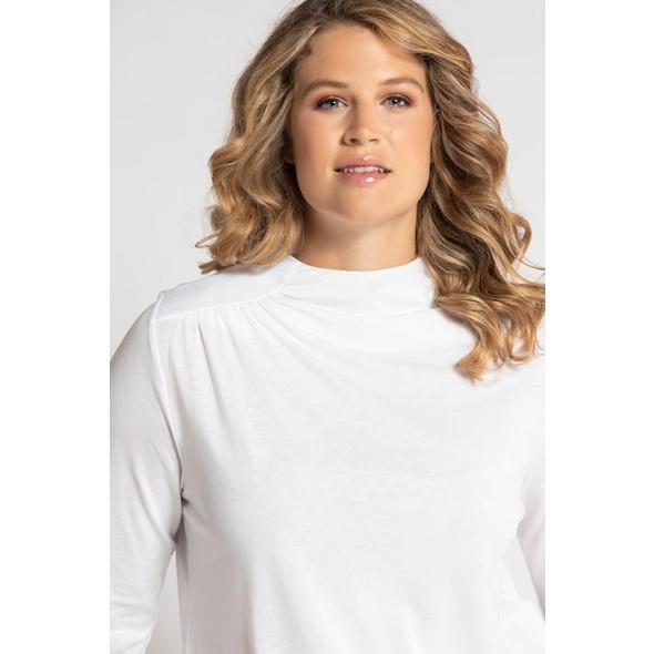 Shirt, Raffung, Classic, Kelchkragen, Lyocellmix