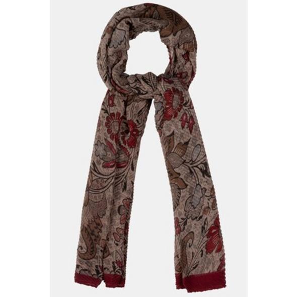 Schal, dekoratives Muster, luftig-leicht