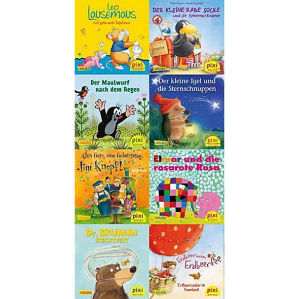 Pixi Bücher: Die beliebtesten Bilderbuch-Helden bei Pixi, 8 Hefte