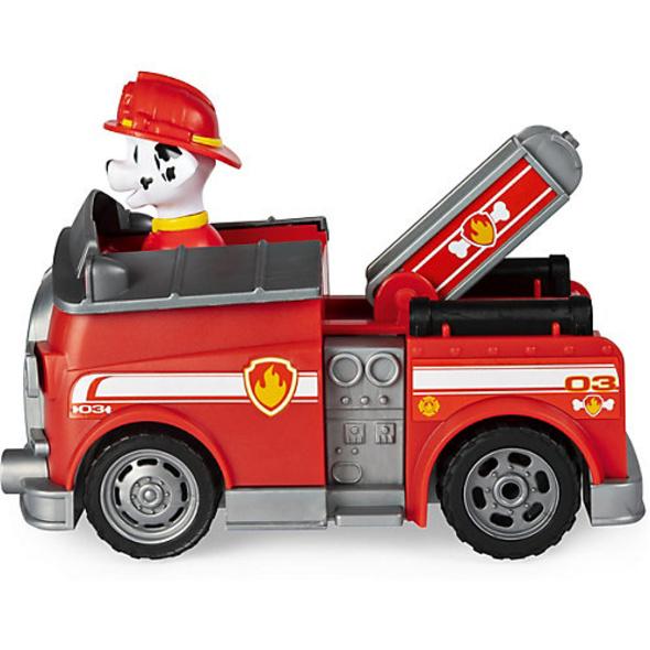 PAW Patrol Ferngesteuertes Feuerwehrauto mit Marshall-Figur, RC Fahrzeug in rot