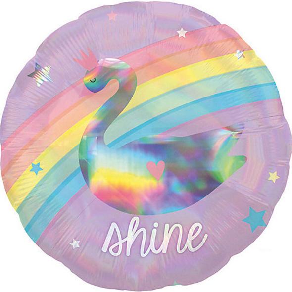 Standard Holographic Magical Rainbow Folienballon S55 verpackt