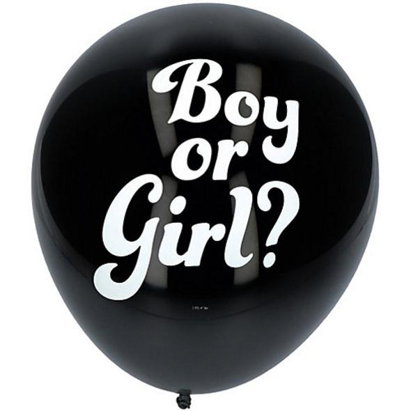 Konfetti Ballon Gender Reveal, Mädchen, 3 Stück