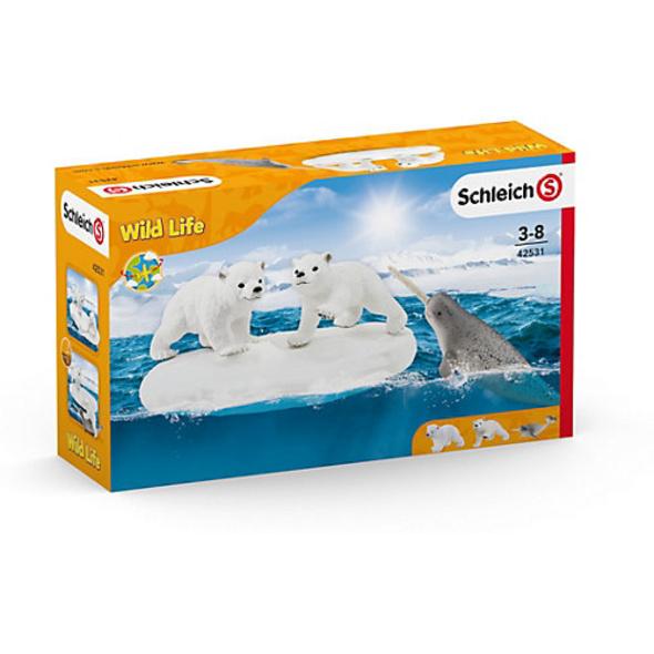 Schleich 42531 Wild Life: Eisbären-Rutschpartie