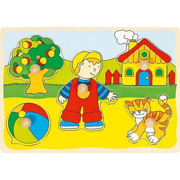 Holzpuzzle Katze, Haus