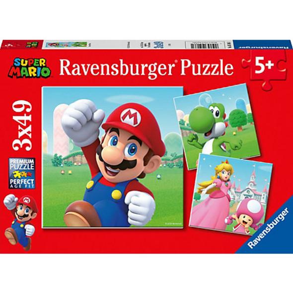 Puzzle 3 x 49 Teile Super Mario