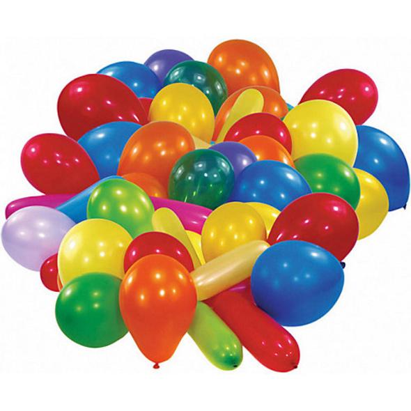 Ballons sortiert, 50 Stück