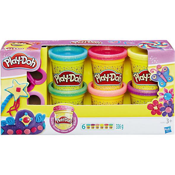 Play-Doh - Knet-Dosen 6er-Pack - Glitzerknete