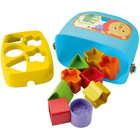 Fisher-Price Babys erste Bausteine, Motorikwürfel, Steckspiel, Bauklötze, Steckwürfel