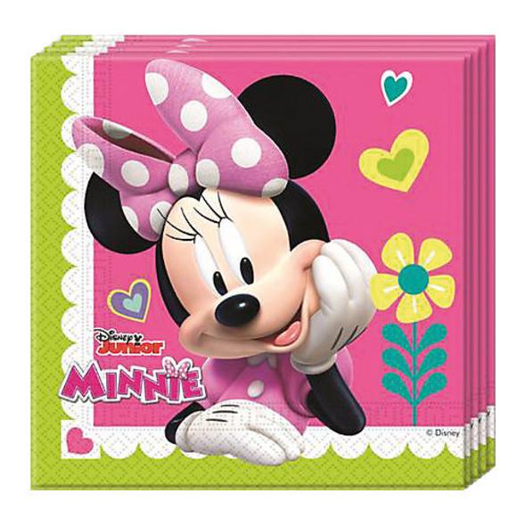 Servietten zweilagig Minnie Happy Helpers 33 x 33 cm, 20 Stück