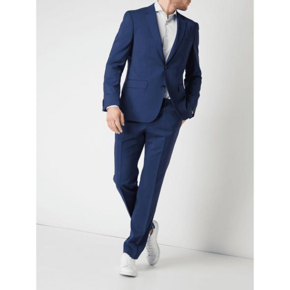 Regular Fit Business-Hose aus Schurwolle Modell 'Simmons'