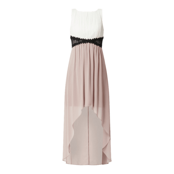 Two-Tone-Cocktailkleid aus Chiffon