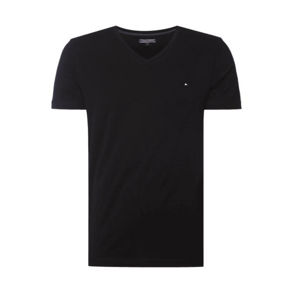 Slim Fit T-Shirt mit V-Ausschnitt