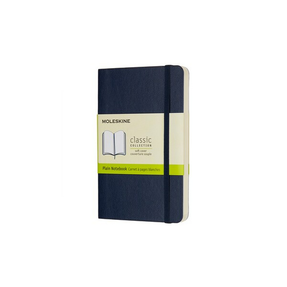 Moleskine Notizbuch P/a6, Blanko, Soft Cover, Saphir