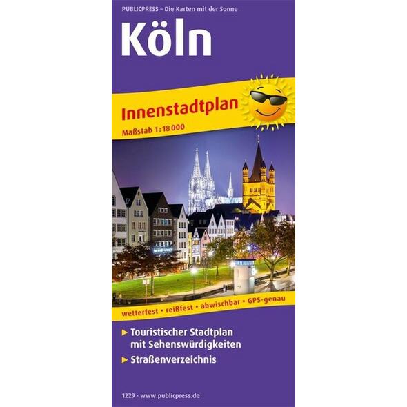 Köln. Innenstadtplan 1:18 000