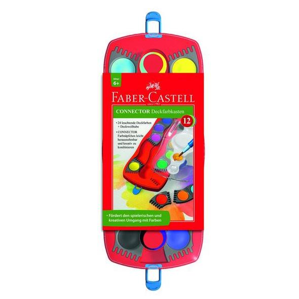 Faber C. Farbkasten Connector 12 Farbe