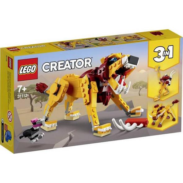 LEGO® Creator 31112 - Wilder Löwe, Bausatz, 3 in 1,