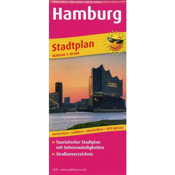 Hamburg. Stadtplan 1:18 000
