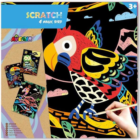 Avenir 6301543 - Scratch Magic Bird, Vögel, Kratzbilder