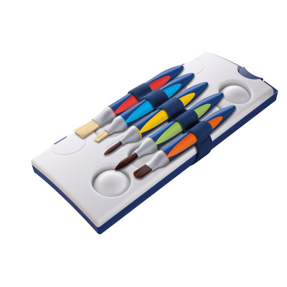 Pelikan 700733 - Schul Pinsel Set, griffix mit Band, 5er Set