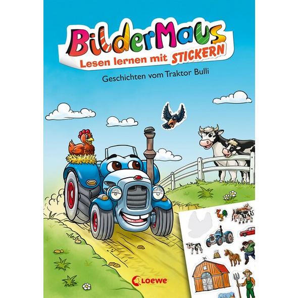Bildermaus - Lesen lernen mit Stickern - Geschichten vom Traktor Bulli