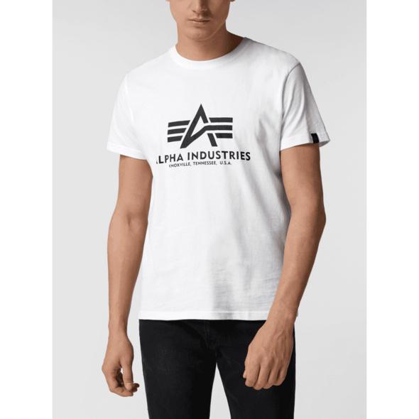 'BASIC T-SHIRT' aus Baumwolle mit Logo-Print