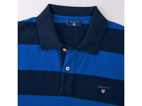 Kurzarm-Poloshirt mit Blockstreifen
