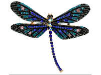 Brosche - Blue Dragonfly